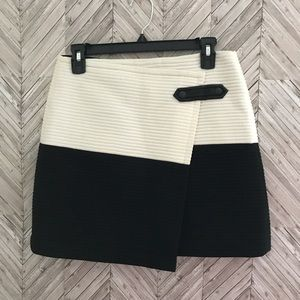Alice and Olivia Lennon Crossover Angled Skirt
